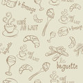 French Doodles Seamless Pattern Royalty Free Stock Photo