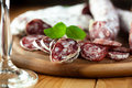 French dried sausage Royalty Free Stock Image
