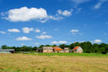 French farmhouse in landscape france Royalty Free Stock Photo