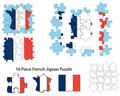 French flag and jigsaw puzzle Stock Photography