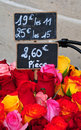 French Flower Market  Stock Photography
