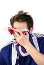 French football fan Stock Images