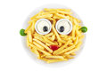 French fries face Royalty Free Stock Image