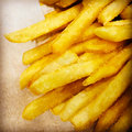 French fries fast food greasy and salty Stock Images
