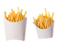French Fries In A Paper Wrappe...