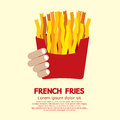 French fries in red container vector illustration Stock Photo