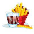French fries and soda.
