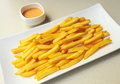 French fries with special house sauce Stock Photo