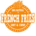 French fries stamp Royalty Free Stock Photo