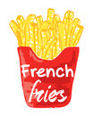 French Fries sticker.