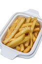 French fries on a white background Stock Images