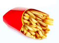 French fries on a white background Stock Image