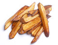 French frites homemade baked fried potatoes Royalty Free Stock Images