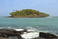 French Guiana, Iles du Salut (Islands of Salvation): Devils Island with Grenadine Passage Royalty Free Stock Photo
