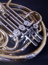 French Horn Close Up Stock Image