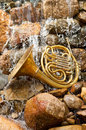 French Horn Instrument Royalty Free Stock Photos