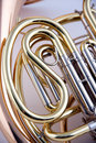 French Horn Isolated on White Royalty Free Stock Photo