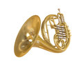 French Horn Isolated Royalty Free Stock Photo