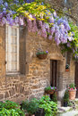 French house front porch Stock Photography