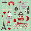 French icons Royalty Free Stock Image