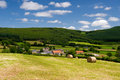 French landscape in the bourgogne france Royalty Free Stock Image