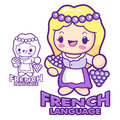 French language and literature mascot education and life charac character design series Stock Photo
