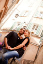 French Lifestyle Couple Stock Photography