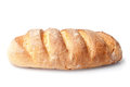 French loaf bread isolated on white background Royalty Free Stock Images