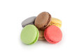 French macaroons dessert on white Royalty Free Stock Images