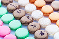 French macaroons in paper Royalty Free Stock Photography