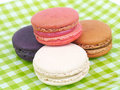French macaroons sweet and colourful Stock Photos