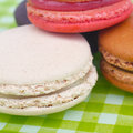 French macaroons sweet and colourful Stock Photography
