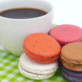 French macaroons sweet and colourful Royalty Free Stock Photography