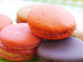 French macaroons sweet and colourful Royalty Free Stock Images