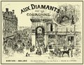 French magazine 1888 jewelry shop advertising Royalty Free Stock Photo