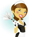 French maid series Royalty Free Stock Images