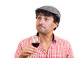 French man tasting some wine Royalty Free Stock Photo