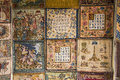 French Medieval Style Tapestry Samples Royalty Free Stock Photo