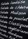 French menu Royalty Free Stock Image