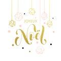 French Merry Christmas Joyeux Noel Greeting Card