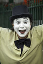 French Mime with a joyful expression Royalty Free Stock Photo