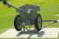 French mm anti tank gun model of at fort hamilton us army base in brooklyn is the only active military Royalty Free Stock Photography