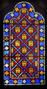 French monarchy symbols stained glass sainte chapelle paris fran fleur de lile saint france saint king louis th created in to Royalty Free Stock Photo