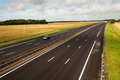 French motorway a from paris to caen through normandy Royalty Free Stock Photography
