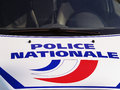 French national police vehicle close up Royalty Free Stock Images