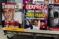 French News Magazines on Kiosk, Royalty Free Stock Photos