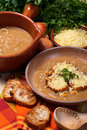 French onion soup Royalty Free Stock Photos