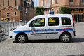 French police car albi france june municipale renault twingo parked in a parking lot in the city of albi Royalty Free Stock Photos