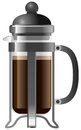 French Press  Illustration Royalty Free Stock Photography