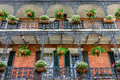 French quarter balconies with plants in new orleans la usa building balconey and flowers Stock Images